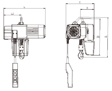 SY-D Electric Chain Hoist drawing.png