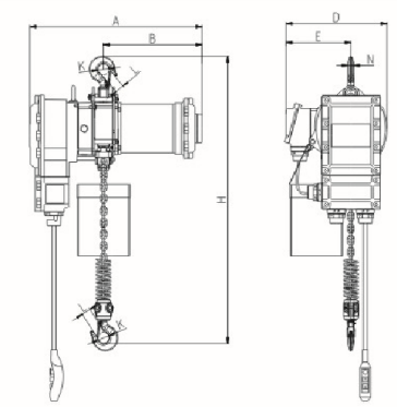 EP Explosion Proof Electric Chain Hoist drawing.png